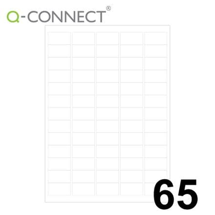 Q-Connect Multipurpose Labels 65 Per Sheet (38.1x21.2mm)