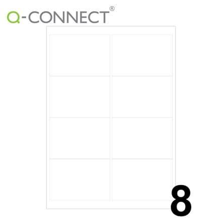 Q-Connect Multipurpose Labels 8 Per Sheet (99.1x67.7mm)