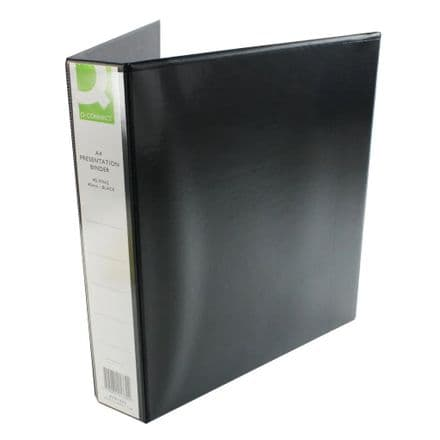 Q-Connect Presentation 40mm 4D Ring Binder A4 Black