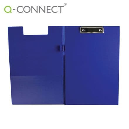 Q-Connect PVC Foldover Clipboard Foolscap Blue