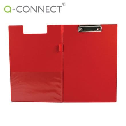 Q-Connect PVC Foldover Clipboard Foolscap Red