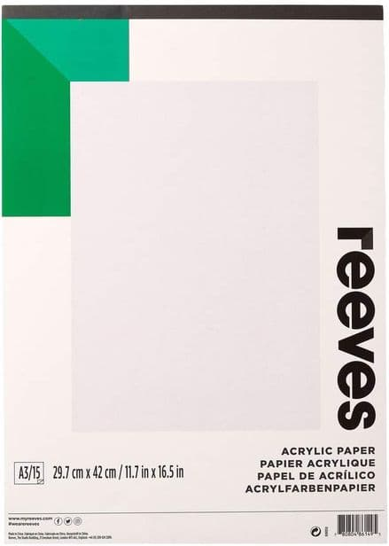 Reeves Acrylic Paper - A3 Pad