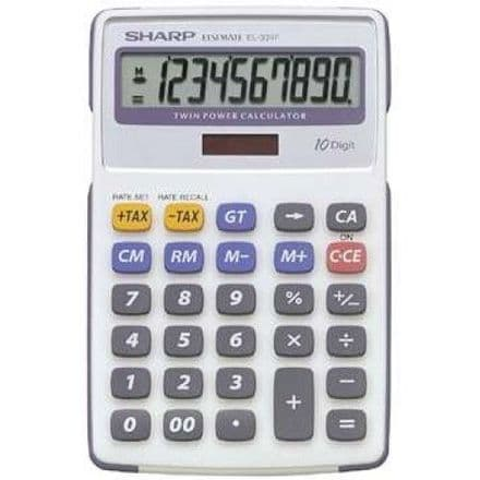 Sharp EL-334FB - Desktop calculator - 10 digits - solar panel, battery