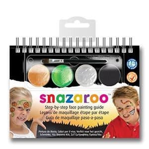 Snazaroo 4 Colour Halloween Facepaint Kit with Step by Step Guide