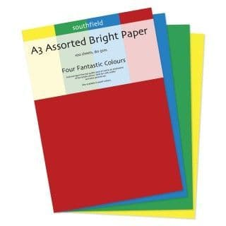 Southfield Bright Paper - A3 Assorted 80gsm - 100 Sheets
