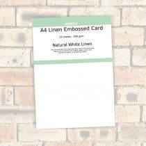 Southfield Embossed Card - A4 Natural White Linen 300gsm - 20 Sheets