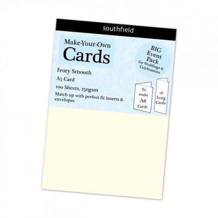 Southfield Smooth Card - A5 Ivory 250gsm - 100 Sheets
