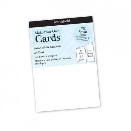 Southfield Smooth Card - A5 Snow White 250gsm - 100 sheets