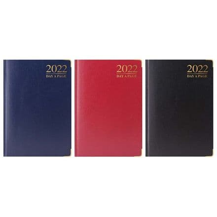 Tallon 2022 Day-A-PagePadded Diary with Gilt-Edge and Metal Corners - A5