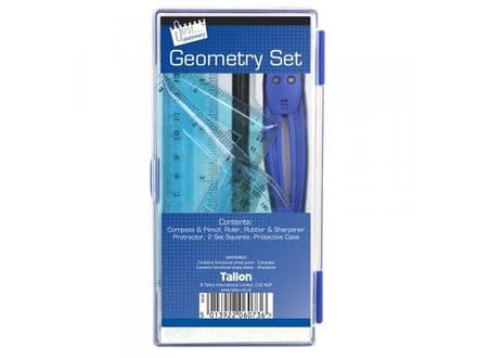 Tallon Geometry Set in Plastic Case