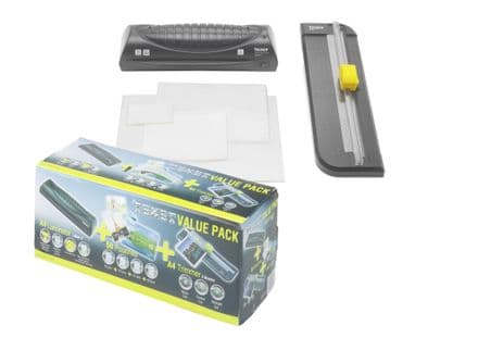 Texet A4 Value Pack Laminator, Trimmer and 50 Laminating Pouches