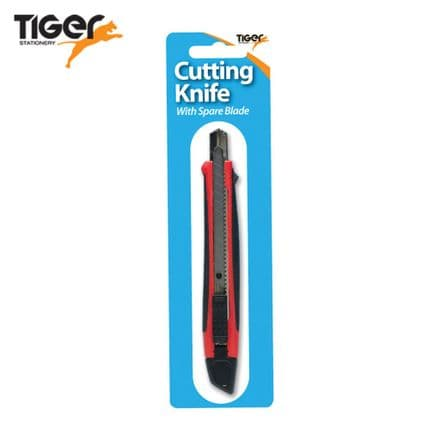 Tiger Stationery 9mm Retractable Cutting Knife and Spare Blade