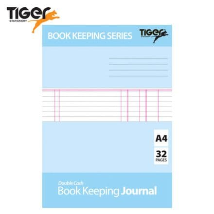Tiger Stationery Book Keeping Journal - Double Cash