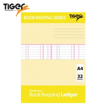Tiger Stationery Book Keeping Ledger - Double Entry