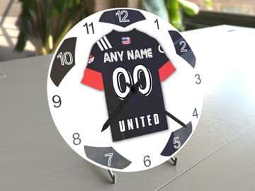 D.C. United MLS Personalised Gifts - Soccer Team Wall Clock
