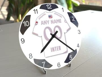 Inter Miami CF MLS Personalised Gifts - Soccer Team Wall Clock