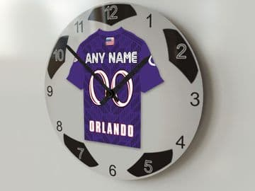 Orlando City SC MLS Personalised Gifts - Soccer Team Wall Clock