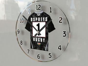 Ospreys Rugby Team Jersey Personalised Wall Clock