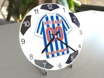 Brighton & Hove Albion FC Football Themed Personalised Table Clock !!