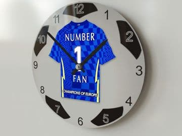 Chelsea FC NUMBER 1 FAN Football Shirt Clock - Perfect Gift for any Blues Fan
