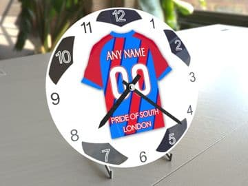 Crystal Palace FC Football Themed Personalised Table Clock !!