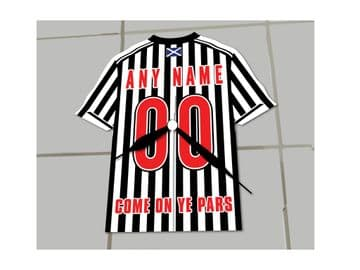 Dunfermline Athletic FC Football Shirt Clock - No Clock Numbers !!