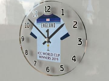 England One Day International Cricket World Cup Winners 2019 Jersey Themed Clock -  Limited Edition