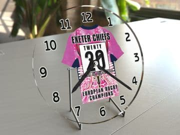 Exeter Chiefs European Rugby Champions Cup Winners 2020 Jersey Themed Clock -  Limited Edition