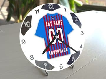 Inverness Caledonian Thistle FC Football Themed Personalised Table Clock !!
