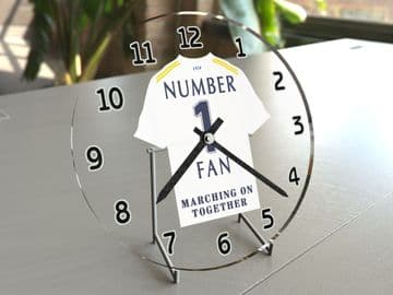 Leeds United FC NUMBER 1 FAN Football Shirt Clock - Perfect Gift for any Whites Fan