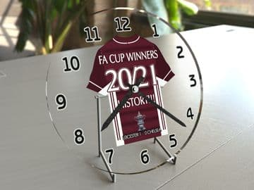 Leicester City FC 2020/21 FA Cup Winners Football Shirt Clock -  Historic Limited Edition