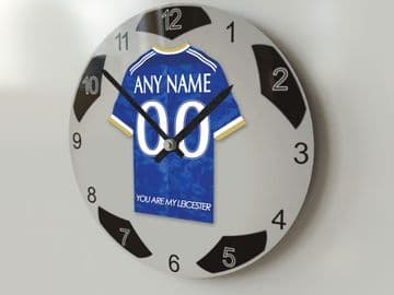 Leicester City FC Football Design Personalised Wall Clock