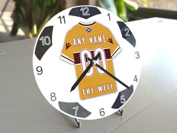 Motherwell FC Football Themed Personalised Table Clock !!