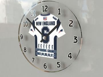 New England Patriots - 6 Times Superbowl World Champions Jersey Themed Clock -  DYNASTY !!