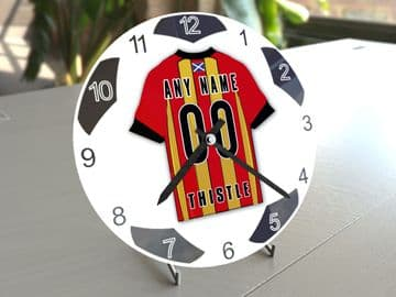 Partick Thistle FC Football Themed Personalised Table Clock !!