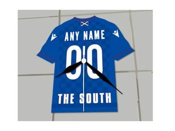 Queen of the South FC Football Shirt Clock - No Clock Numbers !!