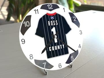 Ross County FC Football Themed Personalised Table Clock !!