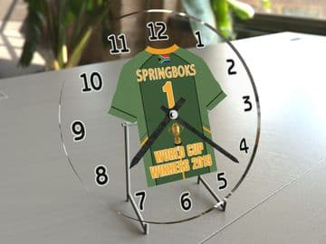 South Africa Springboks Rugby World Cup Winners 2019 Rugby Jersey Themed Clock -  Limited Edition