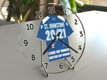 St. Johnstone FC Scottish Cup & League Cup Winners Commemorative Clock - Limited Edition