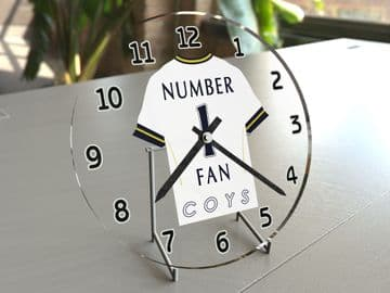 Tottenham Hotspur FC NUMBER 1 FAN Football Shirt Clock - Perfect Gift for any Spurs Fan