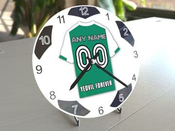 Yeovil Town FC Football Gifts - Personalised Football Team Shirt Wall Clock