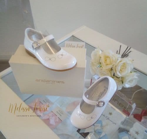 Andanines White Patent Shoes