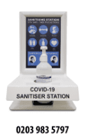 *HEAVY DUTY* HS3 Counter Standing or Wall Mounted Hand Sanitiser Station