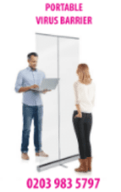 CHEAPEST 1m DESK DIVIDERS! From ?37.49 + VAT! Freestanding Clear Screen and Sneeze Guard.