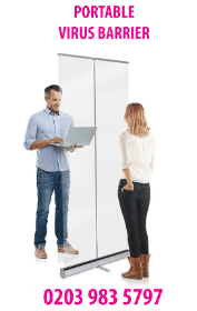 CHEAPEST DESK DIVIDERS! From ?25 + VAT! Freestanding Clear Screen and Sneeze Guard