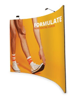 Formulate Fabric Pop Up Stand - Curved