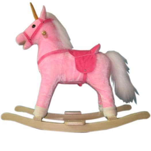 A to Z Rocking Horse with Sound and Moving Mouth Pink Unicorn