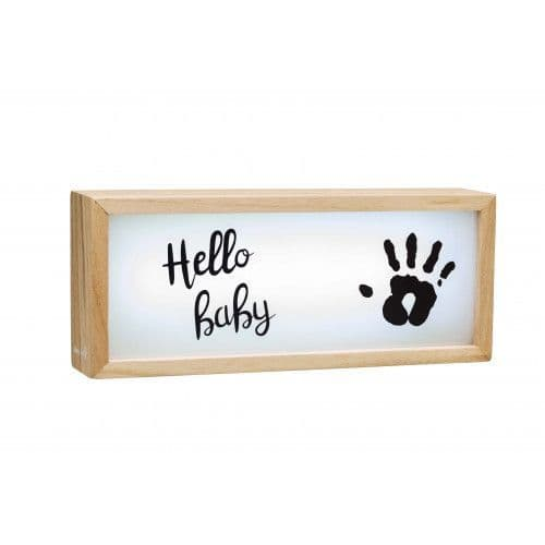 Baby Art Lightbox with Imprint - wooden