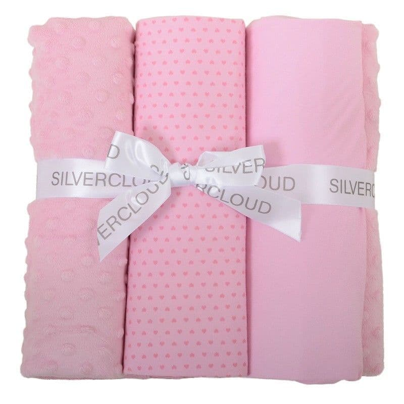 East Coast Cot Bed Bedding Bale (Pink or Blue)