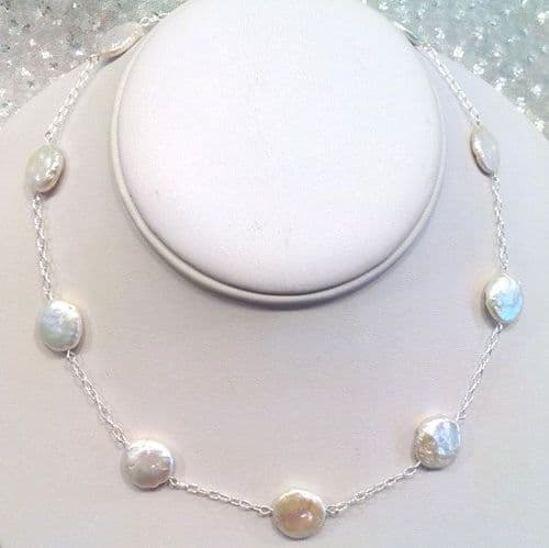'Tin Cup' Disc Pearls